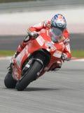 2009 americano Nicky Hayden da equipe de Ducati Marlboro Foto de Stock Royalty Free