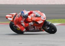 2009 americano Nicky Hayden de Ducati Marlboro Fotos de Stock Royalty Free