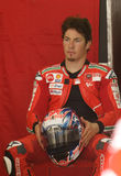 2009 americano Nicky Hayden di Ducati Marlboro Fotografie Stock