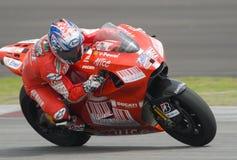 2009 Amerikaanse Nicky Hayden van het Team van Ducati Marlboro Stock Foto