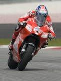 2009 Amerikaner Nicky Hayden Ducati Marlboro des Teams Stockfotografie