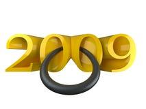 2009 anos novos Fotografia de Stock Royalty Free