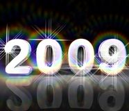 2009 ans neufs Photo stock