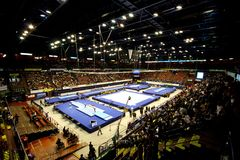 2009 artistic championships european gymnastic Στοκ εικόνες με δικαίωμα ελεύθερης χρήσης