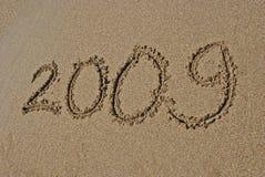 2009 auf dem Strand Stockfoto