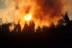 2009年austerlitz争斗 免版税库存照片