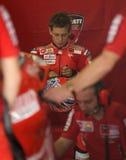 2009 Australische Ontpitter Casey van Ducati Marlboro Stock Foto's