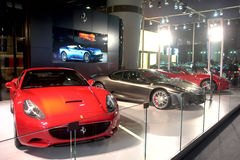 2009 auto-show Guangzhou. Ferrari show in 2009 international auto show GuangZhou. it is from 24/11/2009 to 30/11/2008. Photo taken in 29/11/2009 Royalty Free Stock Images