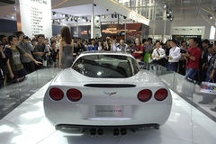 2009 auto-show Guangzhou. Corvette ZR1 show in 2009 international auto show GuangZhou. it is from 24/11/2009 to 30/11/2008. Photo taken in 29/11/2009 Royalty Free Stock Images