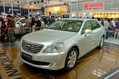 2009 auto-show Guangzhou. Toyota crown car show in 2009 international auto show GuangZhou. it is from 24/11/2009 to 30/11/2008. Photo taken in 29/11/2009 Stock Images