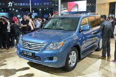 2009 auto-show Guangzhou. Toyota LEXUS suv show in 2009 international auto show GuangZhou. it is from 24/11/2009 to 30/11/2008. Photo taken in 29/11/2009 Royalty Free Stock Images
