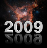 2009 background. Fine image 3d of 2009 year and space background Stock Photos