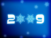 2009 background. Illustration of abstract background with snowflakes and text '2009 vector illustration