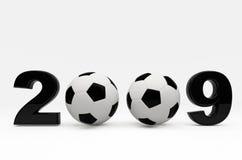 2009 background ball soccer Στοκ εικόνα με δικαίωμα ελεύθερης χρήσης