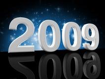 2009 background blue Στοκ Εικόνες