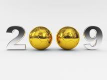 2009 ball golden new years Στοκ φωτογραφίες με δικαίωμα ελεύθερης χρήσης