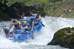 2009年banja焦急用筏子运送世界的luka 免版税库存图片