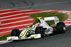 2009 barrichello brawn f1 gp rubens Obraz Stock