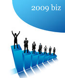 2009 biz. Vector illustration of 2009 biz team stock illustration