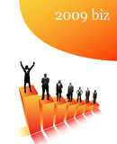 2009 biz. Vector illustration of 2009 biz team royalty free illustration