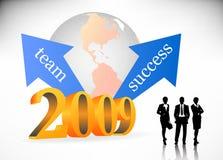 2009 biz. Vector illustration of 2009 biz team Royalty Free Stock Photography