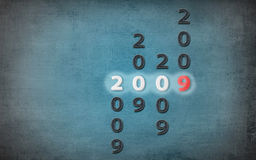 2009 blue grunge. 2009 New Year illustration on blue grunge background Royalty Free Stock Image