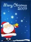2009 bożych narodzeń wesoło Santa Zdjęcie Royalty Free