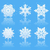 Bright SnowFlakes vector Stock Photos