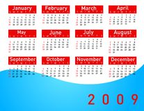 2009 calendar. On white background Stock Photo
