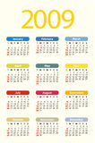 2009 calendar royalty free stock image