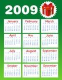 2009 calendar. Vector illustration background Stock Photos