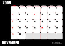 2009 calendar Royalty Free Stock Photos