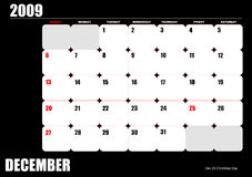 2009 calendar Royalty Free Stock Images