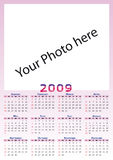 2009 Calendar. With free space for your photos vector illustration