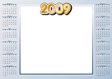 2009 Calendar. With free space for your own pics stock illustration