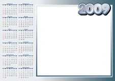 2009 Calendar. Put your own pics in the free space royalty free illustration