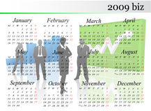 2009 calendar Stock Photos