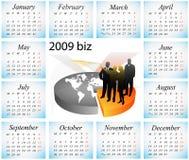2009 calendar. Vector illustration of 2009 biz calendar Stock Photos