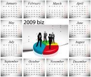 2009 calendar. Vector illustration of 2009 biz calendar Stock Image