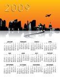 2009 Calendar. 2009 city skyline calendar.  Vector format available.  Room for text Stock Image
