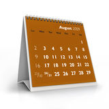 2009 calendar. August. 3D desktop calendar, August 2009 stock illustration