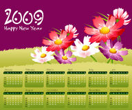 2009 Calendar concept. Simple to edit it, all the dates trusted from the PC calendar royalty free illustration