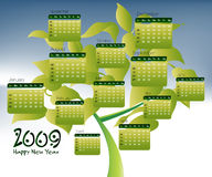 2009 Calendar concept. Simple to edit it, all the dates trusted from the PC calendar vector illustration