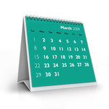 2009 calendar. March. 3D desktop calendar, March 2009 stock illustration