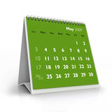 2009 calendar. May Royalty Free Stock Photography
