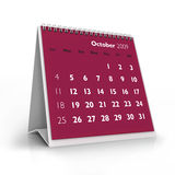 2009 calendar. October Royalty Free Stock Photo