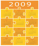 2009 calender Stock Image