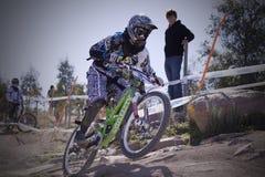 2009 campeones del mundo de las bicis de montaña de UCI Foto de archivo