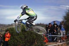 2009 campeones del mundo de las bicis de montaña de UCI Fotografía de archivo
