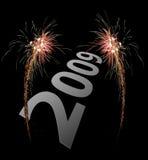 2009 celebration firework stock photo